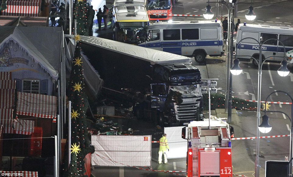 The death toll, which has risen from nine, was confirmed by Berlin Police on Twitter. The force said 48 people who were injured - some of them seriously - have been taken to hospital