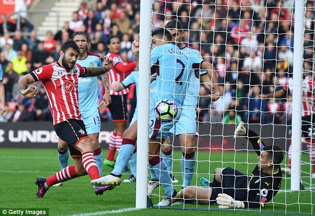 Only seven players have scored for Southampton this season, including Charlie Austin (left)