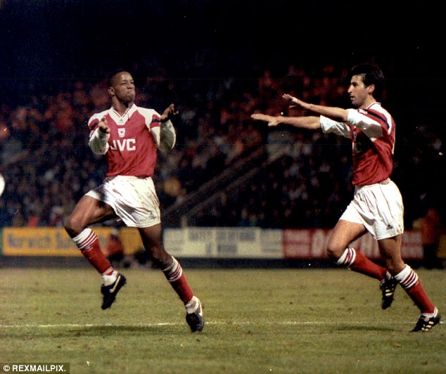 Thanks to Ian Wright (left), Arsenal finished fourth in 1993/94 with only six goalscorers