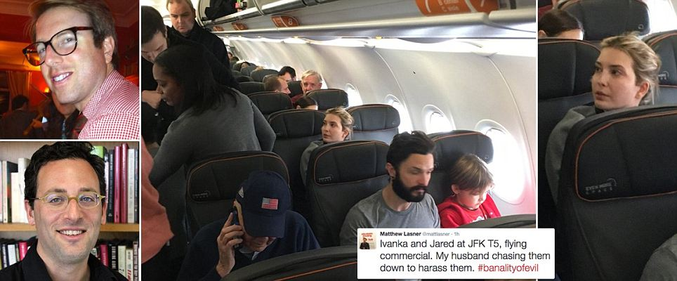 Ivanka Trump 'aggressively confronted by man on JetBlue while sitting with her children