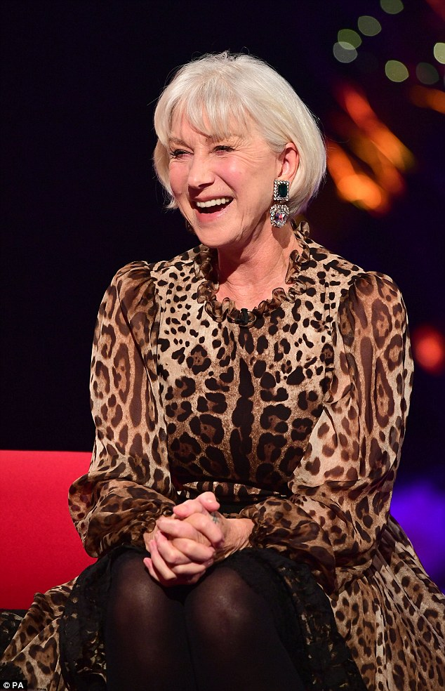 leopard print sofa appears bright house beds helen mirren delivers alternative christmas message on ...