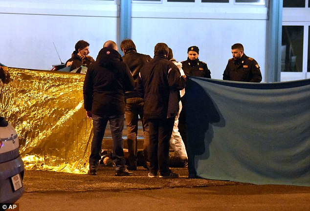 Shoot-out: Italian authorities said this morning that they had 'without a shadow of a doubt' killed the chief suspect in the Berlin massacre