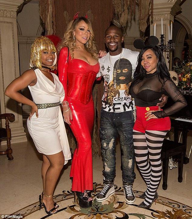 calendrier intéressant: Les nouvelles viennent quelques semaines après Cottle a été repéré cozying jusqu'à boxeur Floyd Mayweather à la fête d'Halloween de Mariah Carey en Octobre