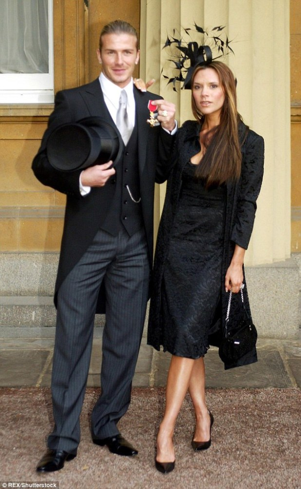 Following in his footsteps: While his OBE was for services to football, Victoria will be honoured for her charity work as well as her day-to-day job