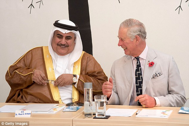 Prince Charles, Prince of Wales visits the Sheikh Isa Cultural Centre on a Royal tour of the United Arab Emirates on November 10, 2016, in Manama, Bahrain