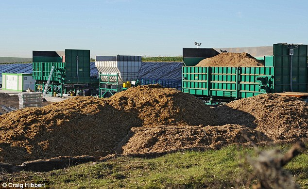 Pictured: The anaerobic digestion facility at Apsley Estate near Andover, in Hampshire