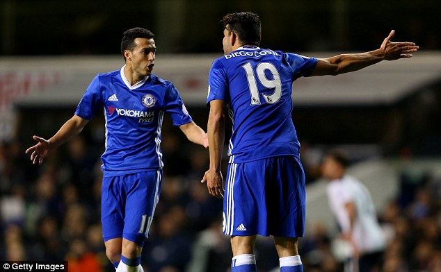 The hot-tempered Costa did not respond positively when Pedro decided to answer back to him