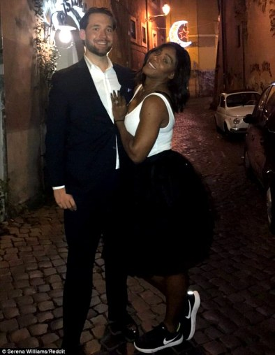 Serena Williams surely overjoyed her fans even more when she revealed the large stone her new man Reddit co-founder Alexis Ohanian gave her; The stunning tennis ace showcased the ring on Thursday via Reddit, leaving no doubt as to the couple's expensive taste