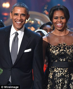 The president sent his greetings, along with Michelle's to the 'creative visionaries' in film and television