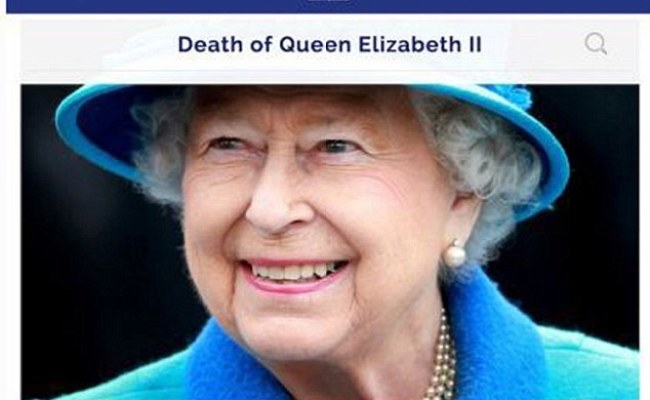 Russia Kill The Queen In Latest Fake News Out Of Moscow