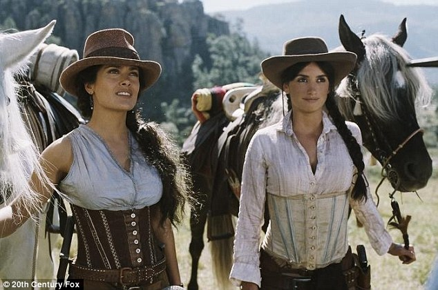 Sara Sandoval and Maria Alvarez:Aside from an episode of MTV's Punk'd, Salma and Penélope have only co-starred in one film - the 1850s western caper Bandidas back in 2006