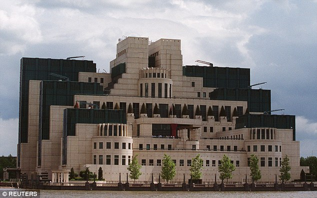The dossier was compiled by a former member of the British Secret Intelligence Service, known as MI6, based in Vauxhall Cross in central London, pictured,