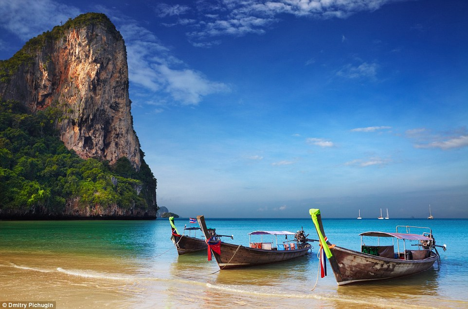 A spicy spring escape: Sun, sand and sea await discovery at Thailand's tropical beaches overlooking the Andaman Sea