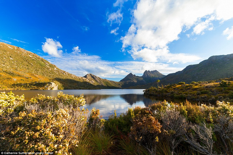 What a way to start the year: Visit Dove Lake, which was formed by glaciation in Tasmania. Behind it sits Cradle Mountain