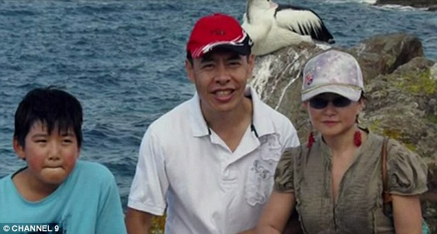 Horrifically murdered: Xie's Chinese-born brother-in-law Norman Lin and Lin's wife Lily (both pictured) were killed