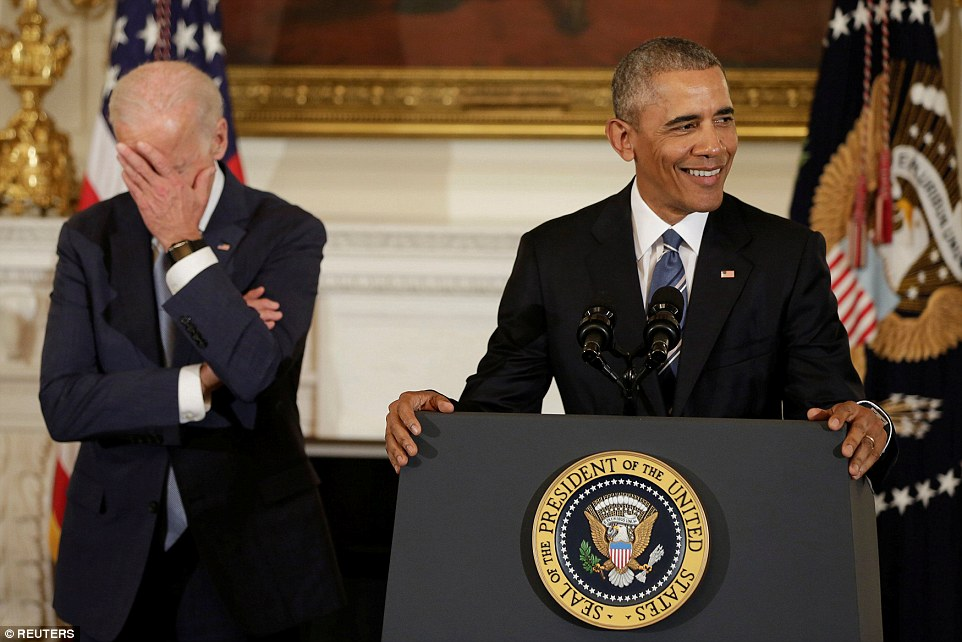 Amid the emotional tributes were jokes about Vice President Biden's taste in poetry and sunglasses