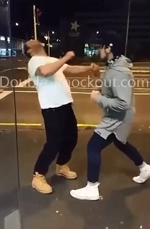 Large bully picks on a little guy and is knocked out by the perfect sucker punch  Daily Mail Online