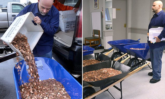 Man delivers 300,000 pennies to Virginia DMV to pay sales tax on two cars to