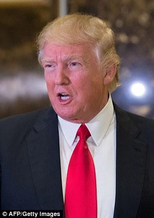 Trump is seen on January 13