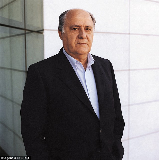 Amancio Ortega, the Spaniard behind fashion chain Zara, is worth £55billion ($66.3bn)