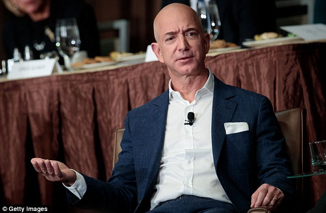 Jeff Bezos, Chairman and founder of Amazon.com and owner of The Washington Post, has £37.1billion ($44.8bn) which puts him at number five in the rich list