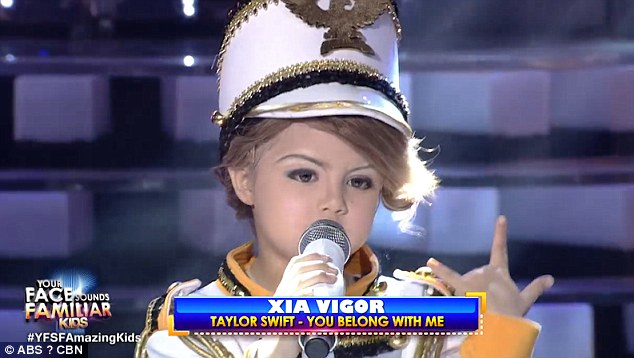 Xia Vigor, who is just seven years old, stunned with her pitch-perfect routine of Swift's 2008 hit You Belong With Me