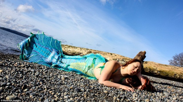 Caitlin dreamed of being a mermaid when she watched the Disney classic Little Mermaid