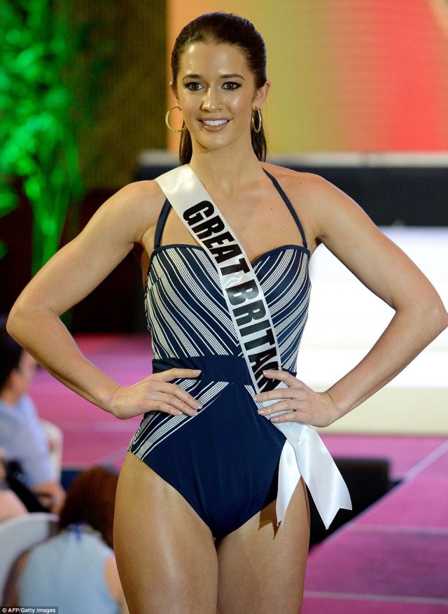 Representing the UK isis Miss Great Britain Jaime-Lee Faulkner, from Treeton, Rotherham, who was crowned Miss Universe GB in July last year