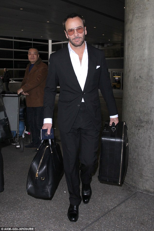 Tom Ford Lands At LAX Amid Spat With Donald Trump Daily
