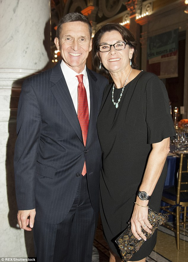 National Security Advisor Michael T. Flynn and wife attends the Cabinet Dinner at the Library of Congress