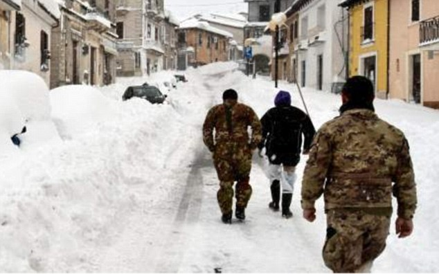 Antonio Di Marco, president of the province of Pescara, which includes the mountain village of Farindola where the hotel is located, said two people had been saved