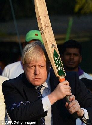 Image result for boris johnson cricket bat