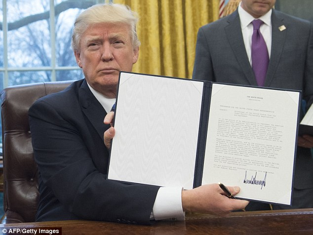 President Donald Trump yanked the United States out of President Barack Obama's 12-nation trade pact today, making good on a campaign promise to negotiate a better agreement