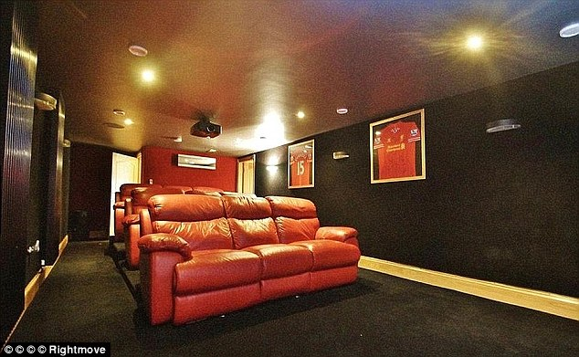 The 22-year-old's former property featured a cinema room adorned with his Liverpool shirts