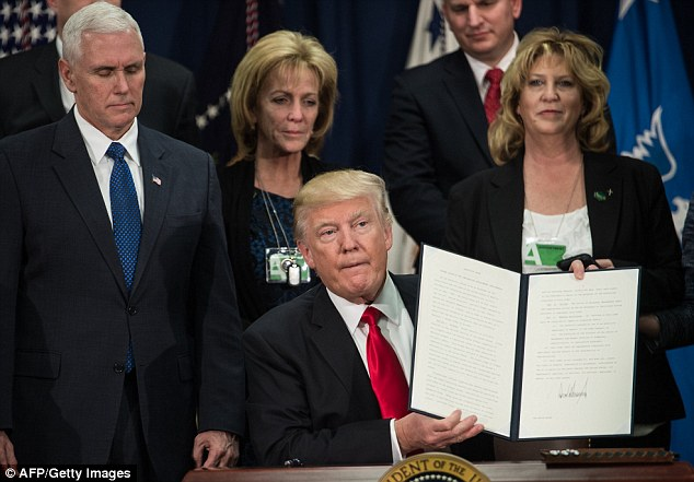 President Donald Trump is cracking down on illegal immigration, issuing two executive actions this afternoon that aim to restore law and order