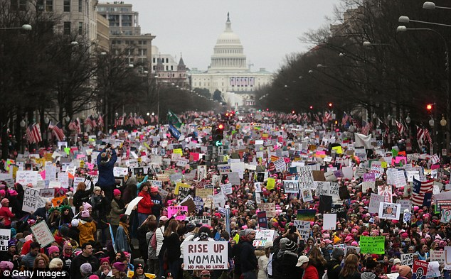 Data source: Celebrities and a social media campaign urged women - and men - who marched on Saturday to take part in a 'text census'. But now it emerges that the data they handed over is available to scores of organizations