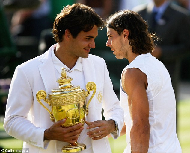 Federer has dominated at Wimbledon, winning the famous trophy seven times