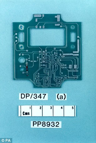 New evidence will cast doubt on a fragment of circuit board (pictured) said to be part of a timing device sold only to Libya by arms manufacturers