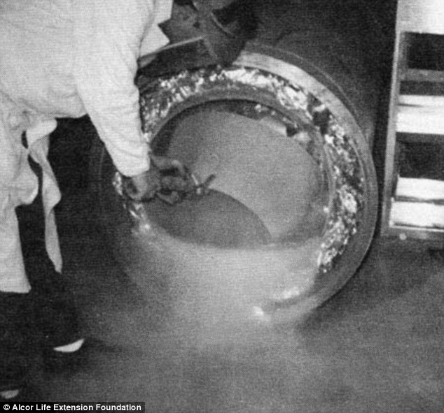 But unlike contemporary 'patients', who are slowly cooled over three days before being stored in a capsule filled with liquid nitrogen, Bedford's journey began with an ice bath – followed by being stuffed into a Styrofoam box and temporarily stored in an LA garage