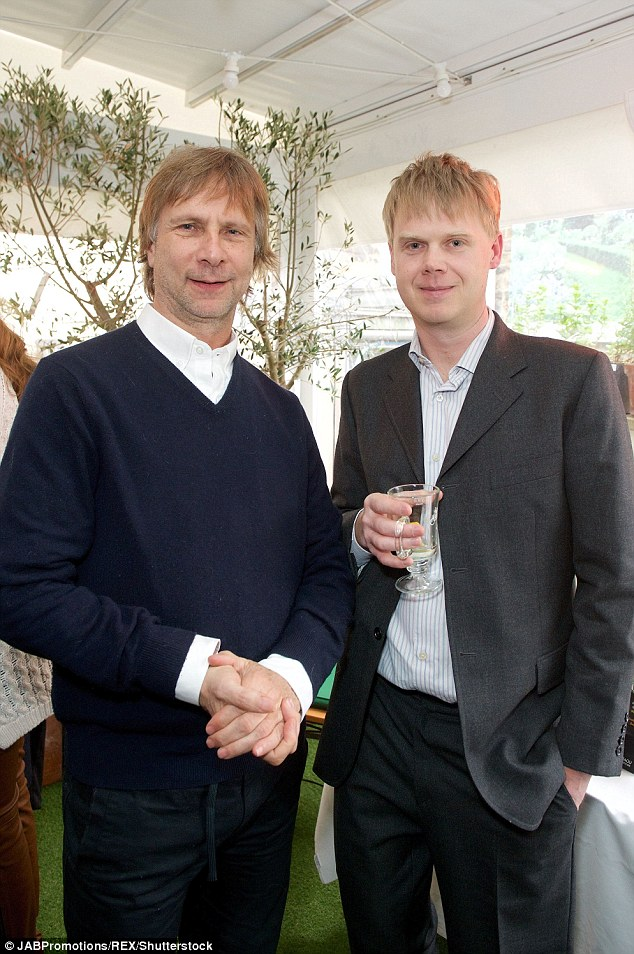Luke Montagu (right), pictured with Jonathan Sattin at Julie Montagu's Eat Real Food 'Pocket Lifestyle' book launch in London