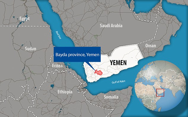 This was the president's first clandestine strike, and not one that was originally ordered by former President Obama. It involved 'boots on the ground' at an al Qaeda Camp near al Bayda in south central Yemen (pictured)