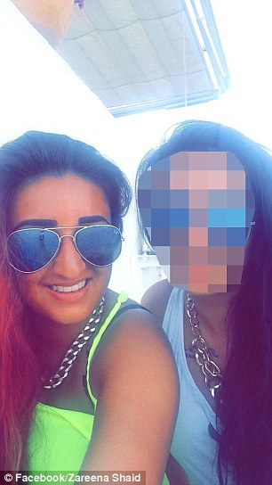 The mouthy party lover - who by her own admission was 'eight and a half to nine out of ten drunk' - had earlier been with three female friends knocking back alcohol in the executive lounge at Manchester Airport