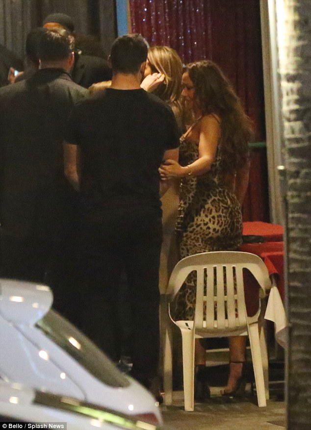 Jennifer Lopez bumps into Casper Smart in Hollywood