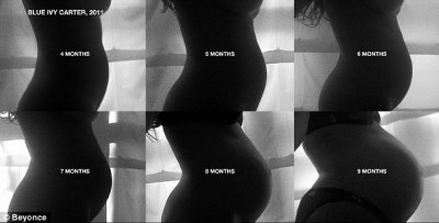 All month...Away from the present, Beyonce also gave fans a rare insight into their life particularly when she shared a series of images of her bump throughout her pregnancy with Blue