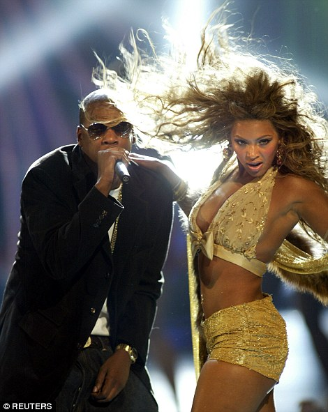 Way back when: The long-term couple have collaborated on a number of hits (pictured at the MTV VMAs in 2003)