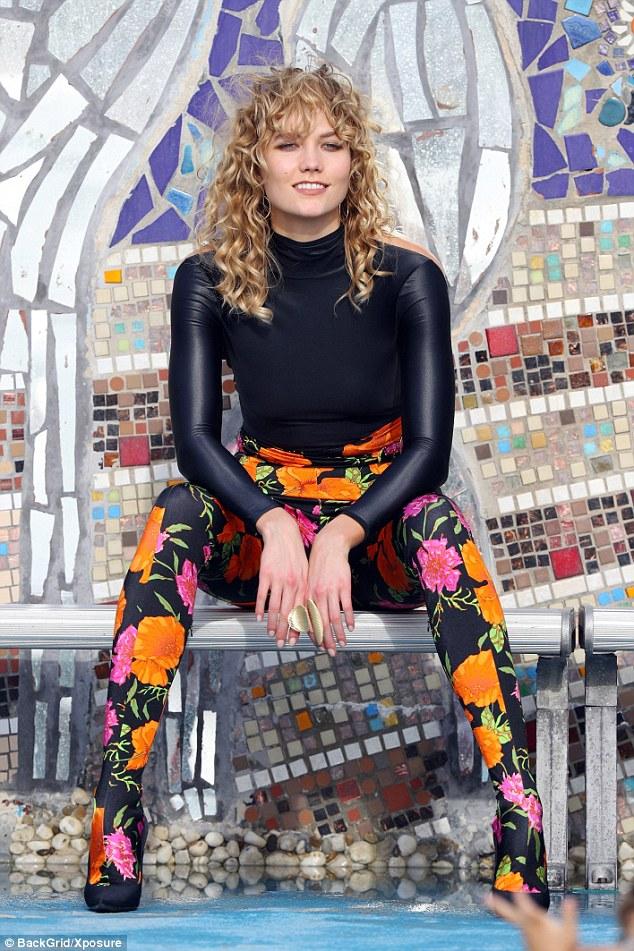 Karlie Kloss Sports Wavy Locks During Photo Shoot In Bondi