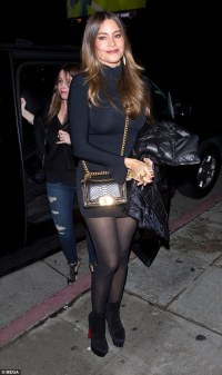 Sofia Vergara drops jaws in tiny black mini dress | Daily ...