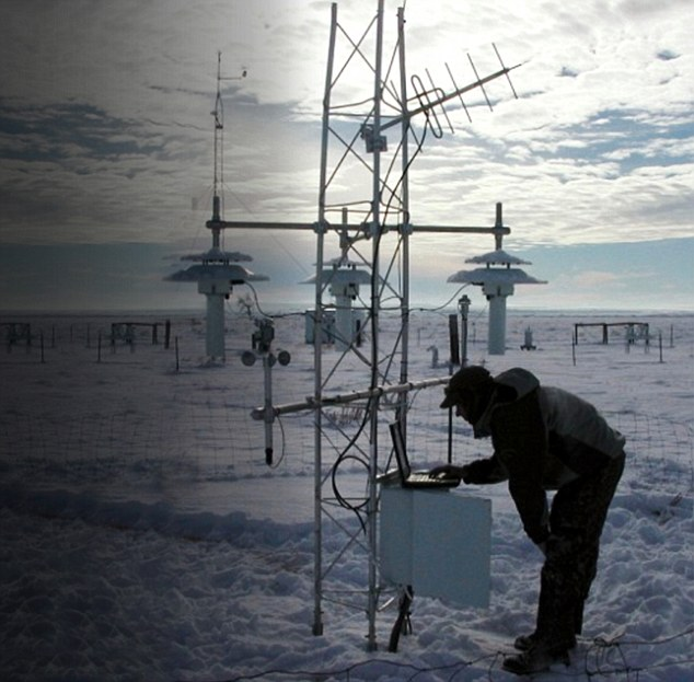 The unstable land readings: Scientists at NOAA used land temperature data from 4,000 weather stations (pictured, one in Montana, USA). But the software used to process the figures was bug-ridden and unstable. NOAA also used 'unverified' data that was not tested or approved. This data as merged with unreliable sea surface temperatures