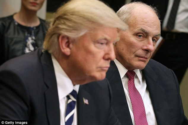 Donald Trump's planned border wall between the United States and Mexico might not be all that visible, Homeland Security Secretary John Kelly, (right) admitted