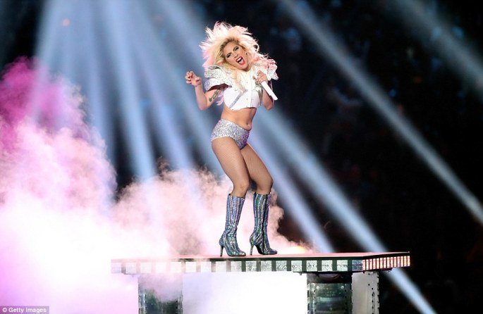 Dedicated to her loyal fans: Gaga tweeted right before halftime: 'This is for you Monsters. I love you'